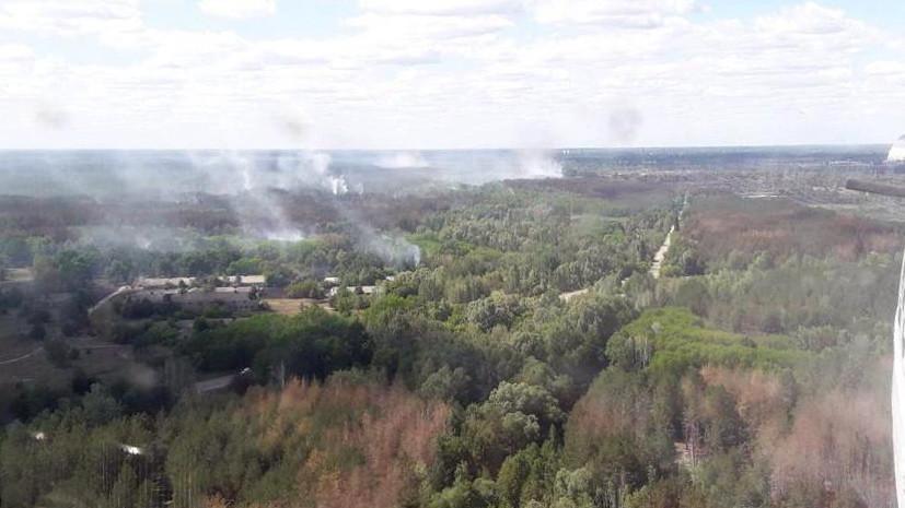 В чернобыльской зоне снова возник пожар