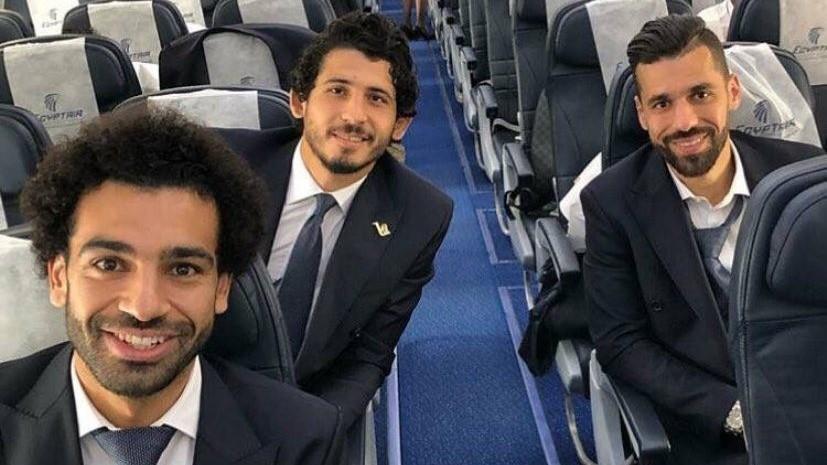 Сборная Египта прилетела в Грозный на ЧМ-2018 по футболу
