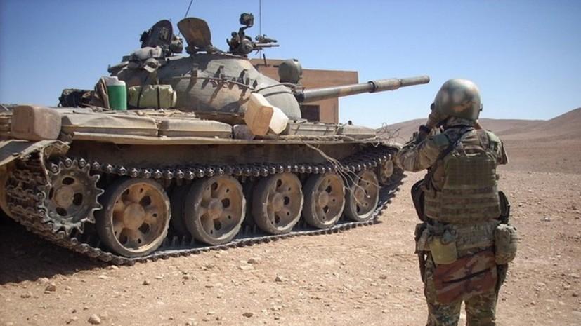 ВС Сирии при поддержке ВКС России не дали боевикам прорваться из Эт-Танфа в направлении Пальмиры