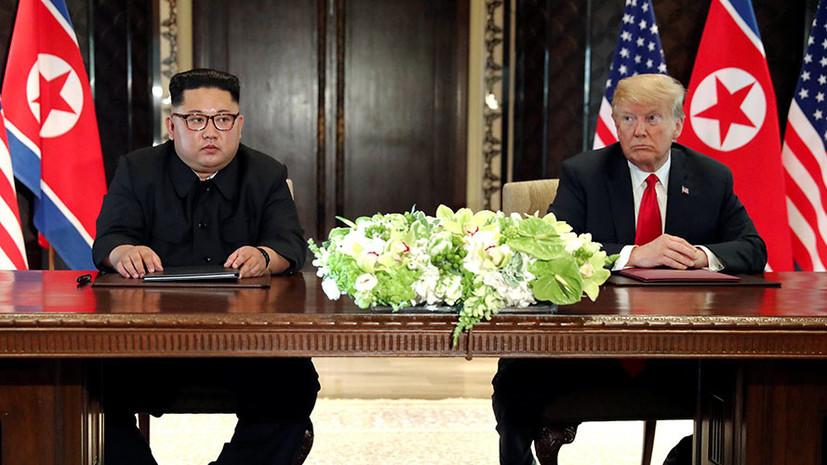 Песков: встреча Трампа и Ким Чен Ына способствует разрядке напряжённости