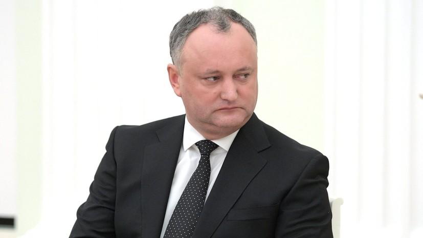 Додон прибыл в Москву на открытие ЧМ-2018 по футболу