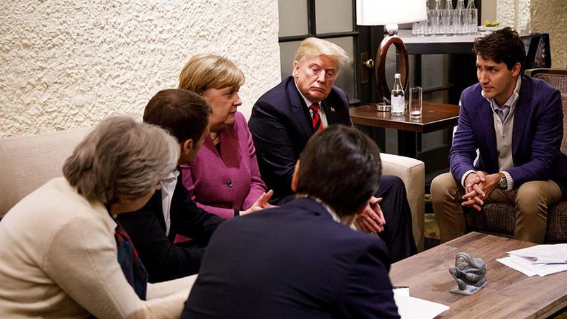 СМИ: Трамп в беседе с лидерами G7 назвал Крым российским