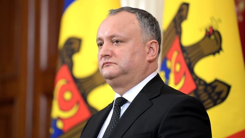 Президент Молдавии Додон поздравил сборную России с убедительным дебютом на домашнем ЧМ