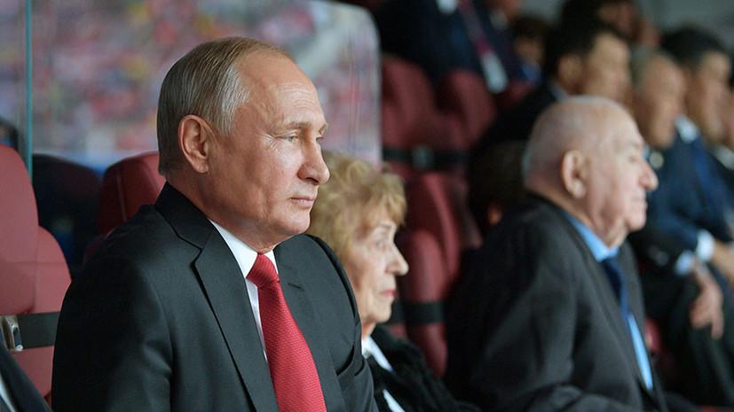 Песков: у Путина остались положительные эмоции после матча Россия — Саудовская Аравия