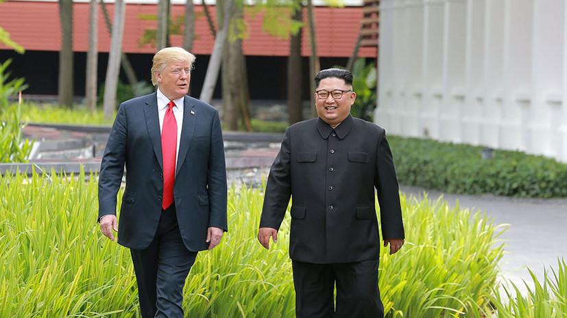 Трамп рассказал о «хорошей химии» между ним и Ким Чен Ыном