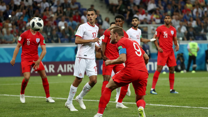 Трансляция матча Тунис — Англия стала самой популярной программой в Великобритании в 2018 году