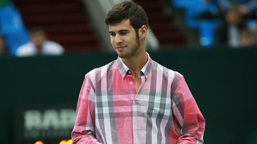 Хачанов победил Мишу Зверева на старте теннисного турнира в Галле