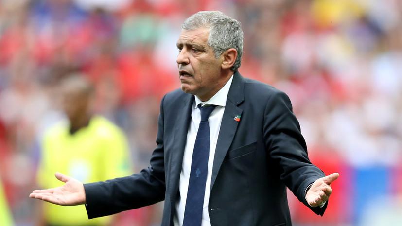 Тренер сборной Португалии Сантуш сказал, что в моменте с голом Роналду можно было ещё назначить пенальти