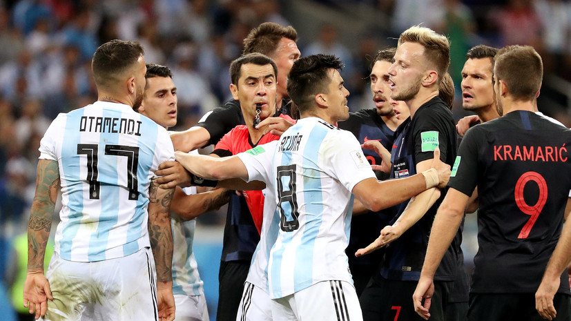 Видеообзор матча ЧМ-2018 по футболу Аргентина — Хорватия