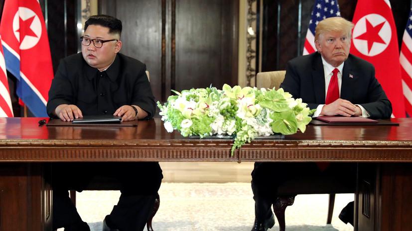 Трамп продлил санкции в отношении КНДР