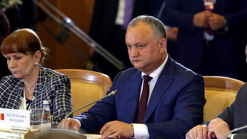 Додон: голосованием в ООН кабмин Молдавии устроил очередной антироссийский демарш