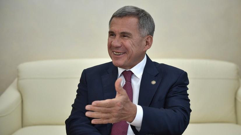Минниханов поздравил жителей Татарстана с праздником Сабантуй