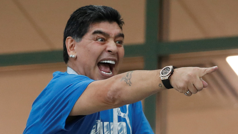 Марадона потребовал доступ к тренировочной базе сборной Аргентины перед матчем с Нигерией