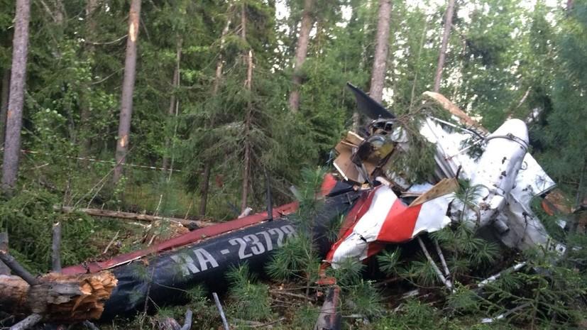 СК назвал основные версии крушения легкомоторного самолёта в Воронежской области