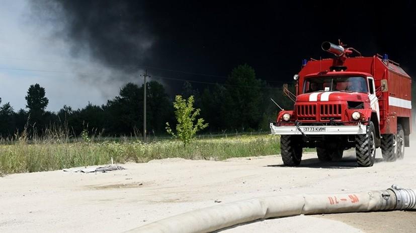 На Украине произошёл взрыв ёмкостей почти с 500 тоннами биоэтанола
