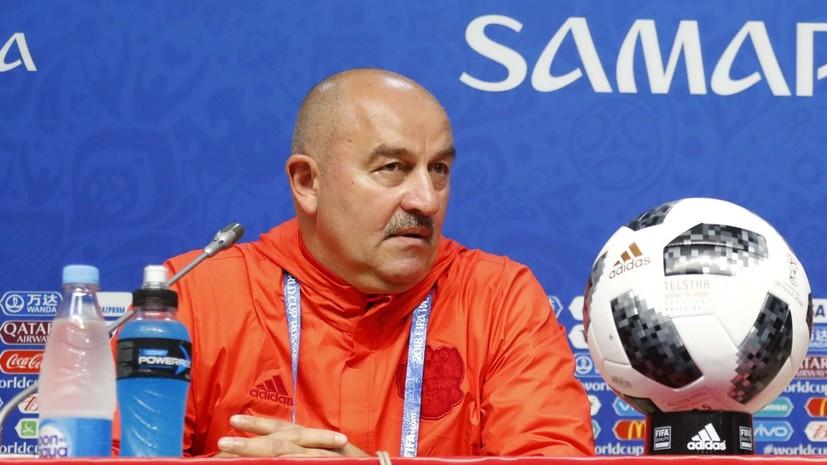 Черчесов рассказал, как будет определён состав сборной России на матч с Уругваем на ЧМ-2018 по футболу