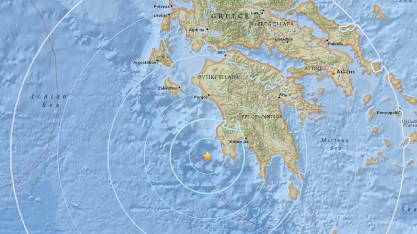 В Греции произошло землетрясение магнитудой 5,4