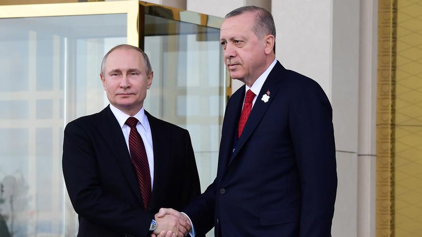 Путин поздравил Эрдогана с победой на выборах президента Турции