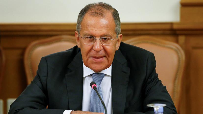 Лавров обсудил с главой МИД Ирана ситуацию вокруг ядерной сделки
