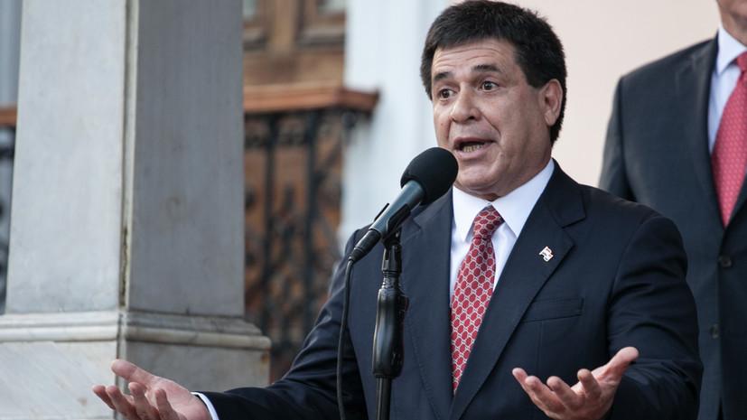 Президент Парагвая заявил, что отозвал своё прошение об отставке