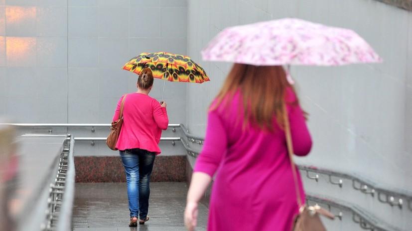 Синоптики прогнозируют дожди и грозы на выходных в Москве