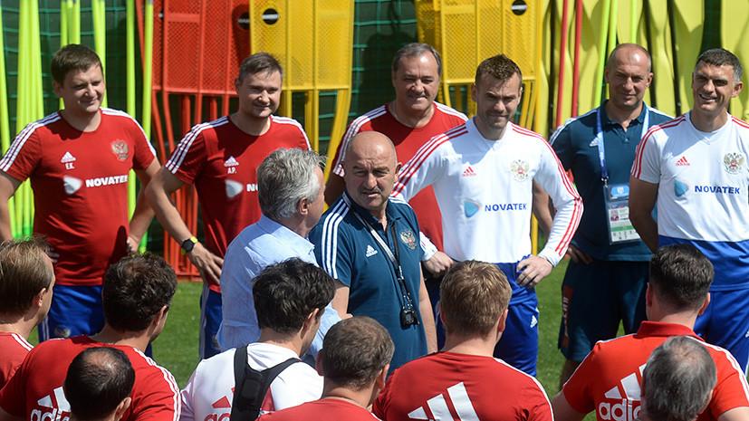 Поддержка трибун и напутствие Хиддинка: сборная России продолжает подготовку к матчу с Испанией