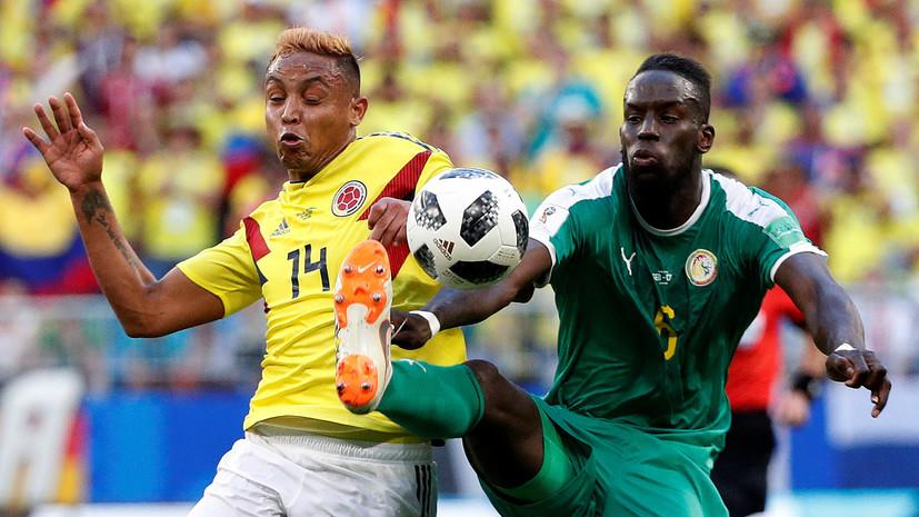 Видеообзор матча ЧМ-2018 по футболу Сенегал — Колумбия