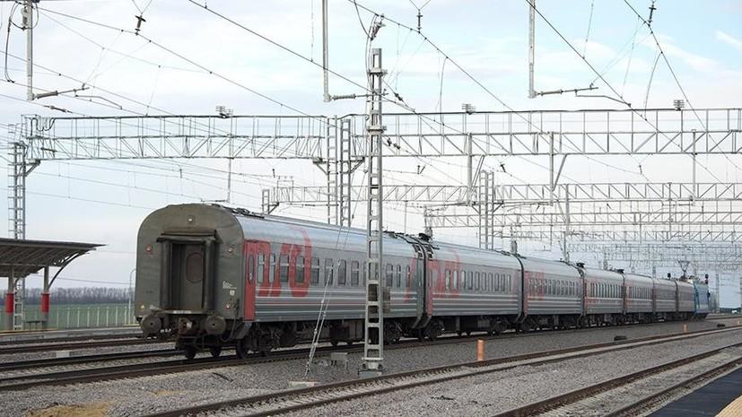 Источник: локомотив пассажирского состава загорелся в Тамбовской области