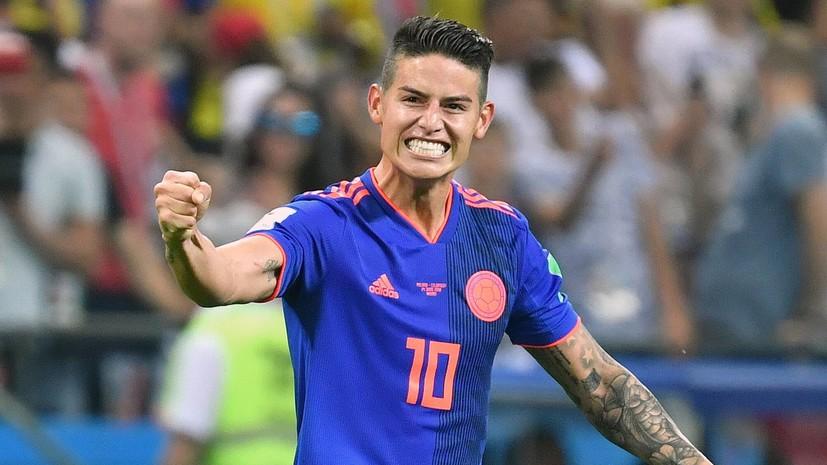 Хамес Родригес может пропустить матч с Англией в 1/8 финала ЧМ-2018 из-за травмы