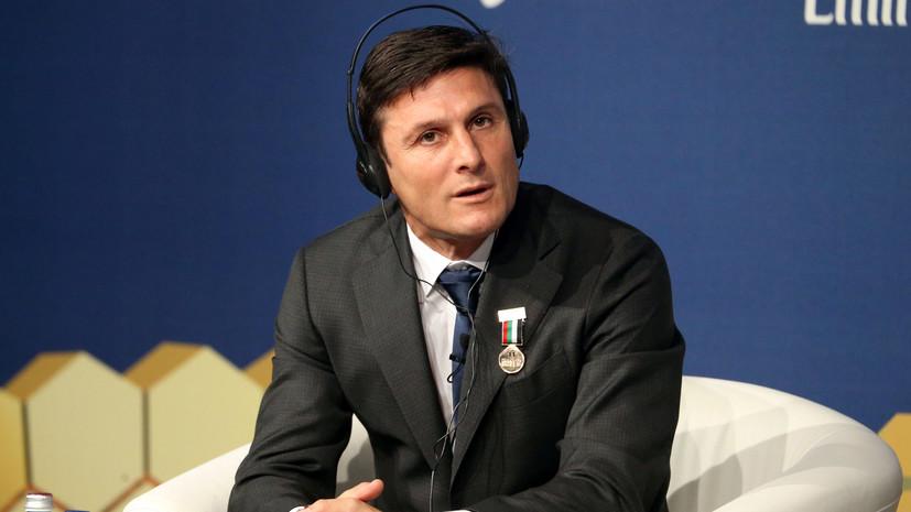 Экс-капитан сборной Аргентины Дзанетти поделился соображениями о выступлении команды на ЧМ-2018 по футболу