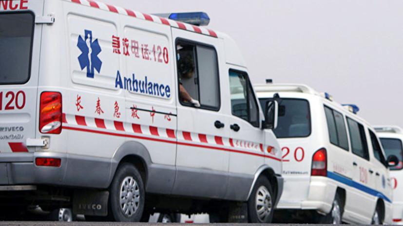 По меньшей мере 18 человек погибли при столкновении автобуса с грузовиком в Китае
