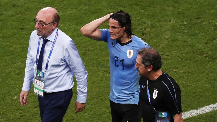 Кавани не доиграл матч ЧМ-2018 с Португалией из-за травмы