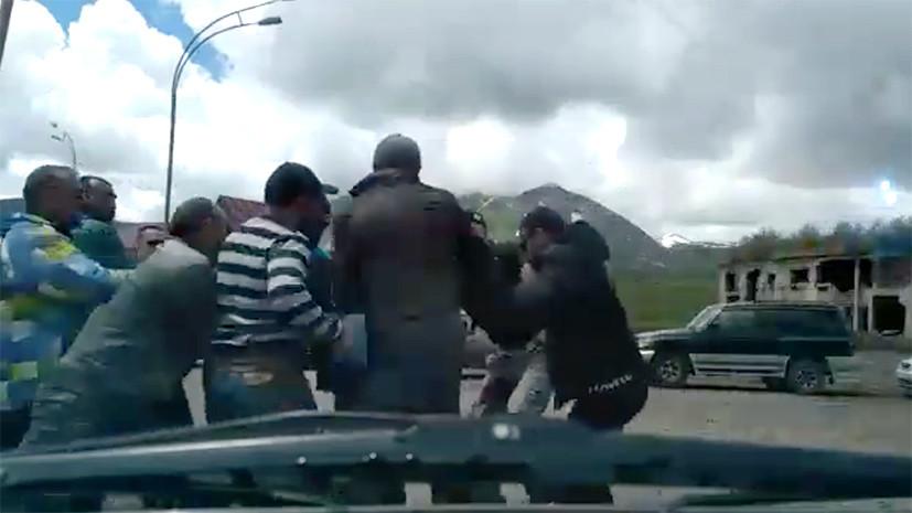 Жителя России  толпой избили вГудаури