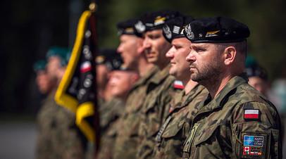 Польские военнослужащие на учениях НАТО