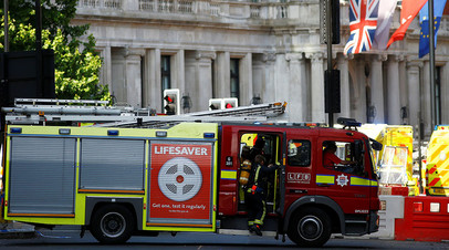 В известном лондонском отеле начался сильный пожар