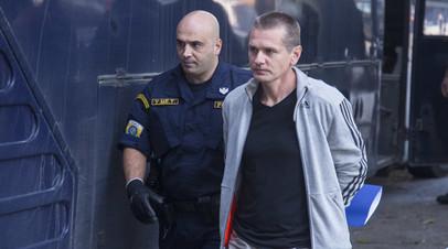 Суд в Москве заочно арестовал задержанного в Греции россиянина Винника