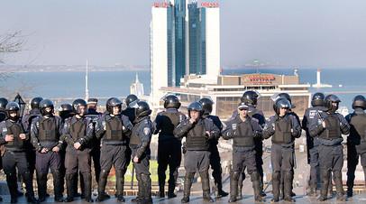Украинские правоохранители в Одессе
