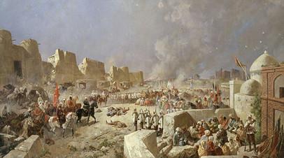 Н. Каразин. Вступление русских войск в Самарканд