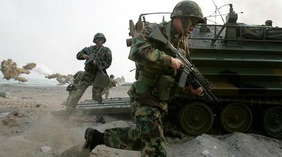 Высадка морской пехоты США и Южной Кореи