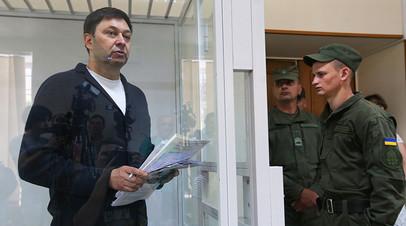 Кирилл Вышинский во время рассмотрения апелляции на арест в зале Херсонского городского суда