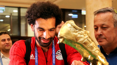 Форвард сборной Египта Мохаммед Салах