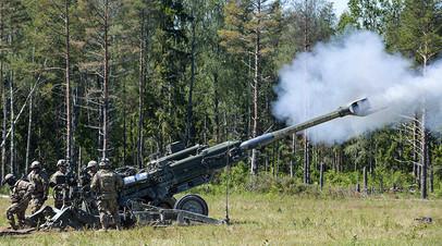 155-мм гаубица M777 на учениях Saber Strike в Эстонии
