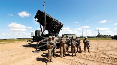 ЗРК Patriot на учениях ПВО в Литве