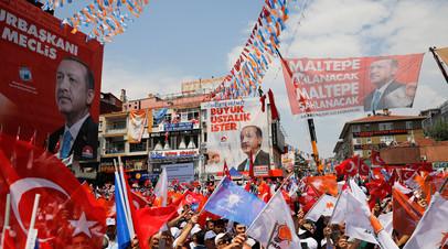 Митинг сторонников Реджепа Тайипа Эрдогана