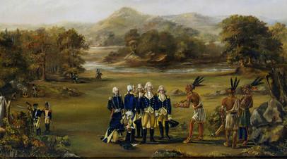 Фрагмент картины «Гринвилльский договор». 1795 год