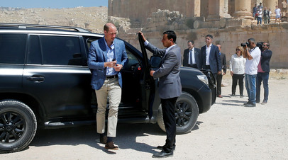 Принц Уильям в Иордании во время своего ближневосточного турне