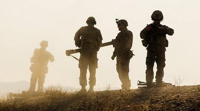Солдаты 3-го кавалерийского полка ВС США