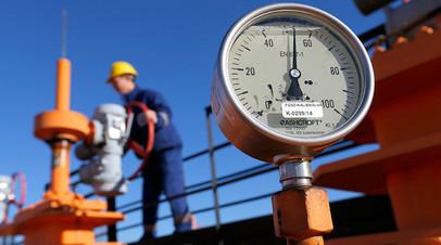Газовый хаб в Венгрии, через который российский газ транспортируется в Сербию
