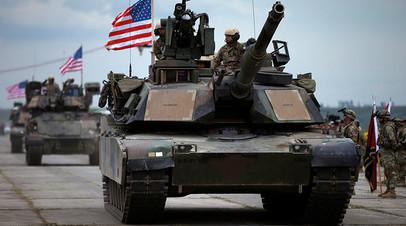 Войска армии США на учениях в Европе