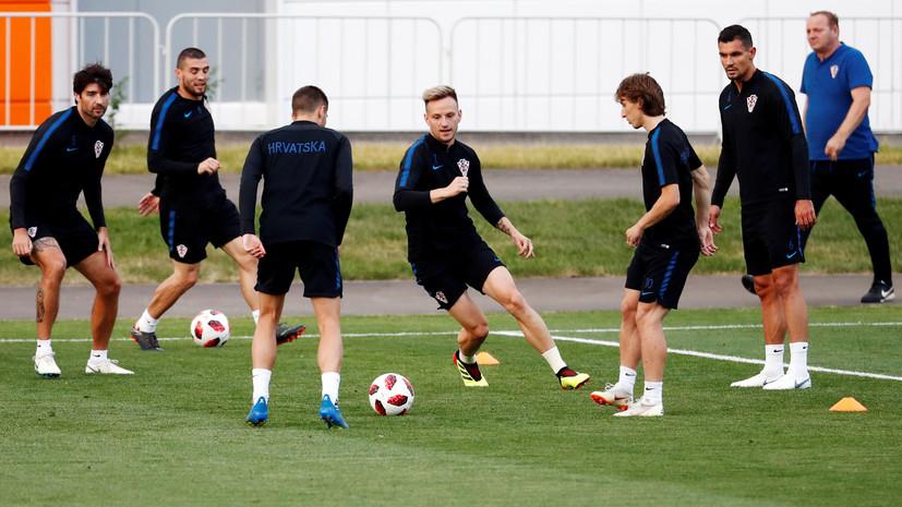 Ракитич и Модрич вошли в стартовый состав сборной Хорватии на матч с Данией
